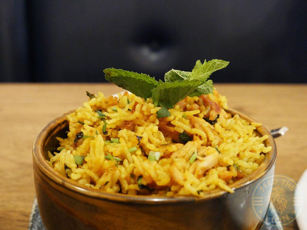 ZeeZain Indian Halal restaurant Kensington, London Chicken Biryani Rice