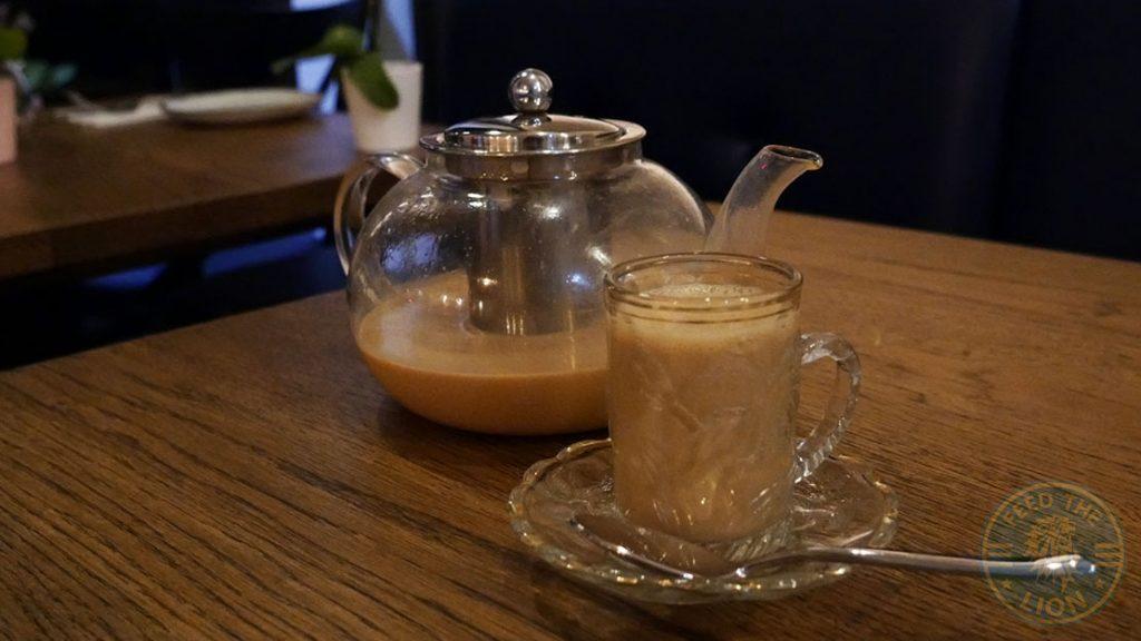 ZeeZain Indian Halal restaurant Kensington London Masala Tea