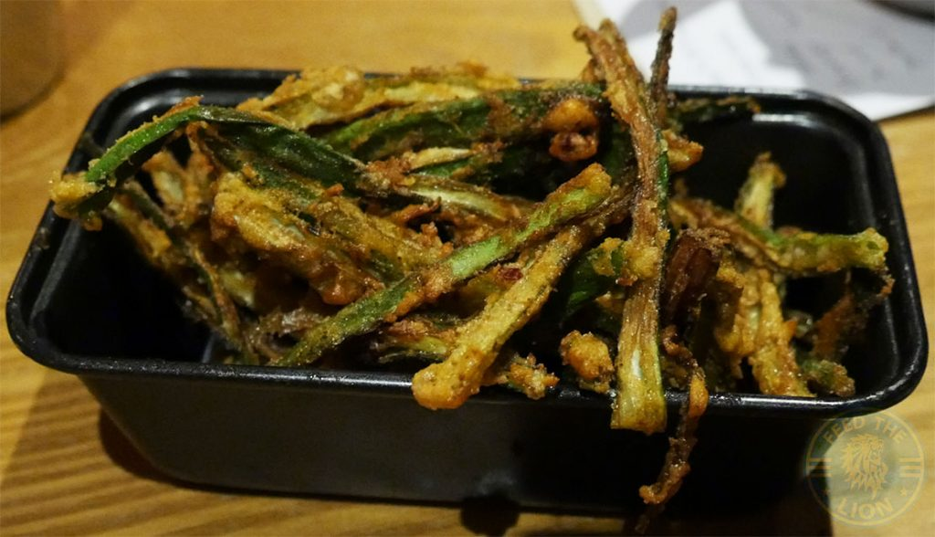 Okra Fries Chapati Club Indian Halal restaurant Acton