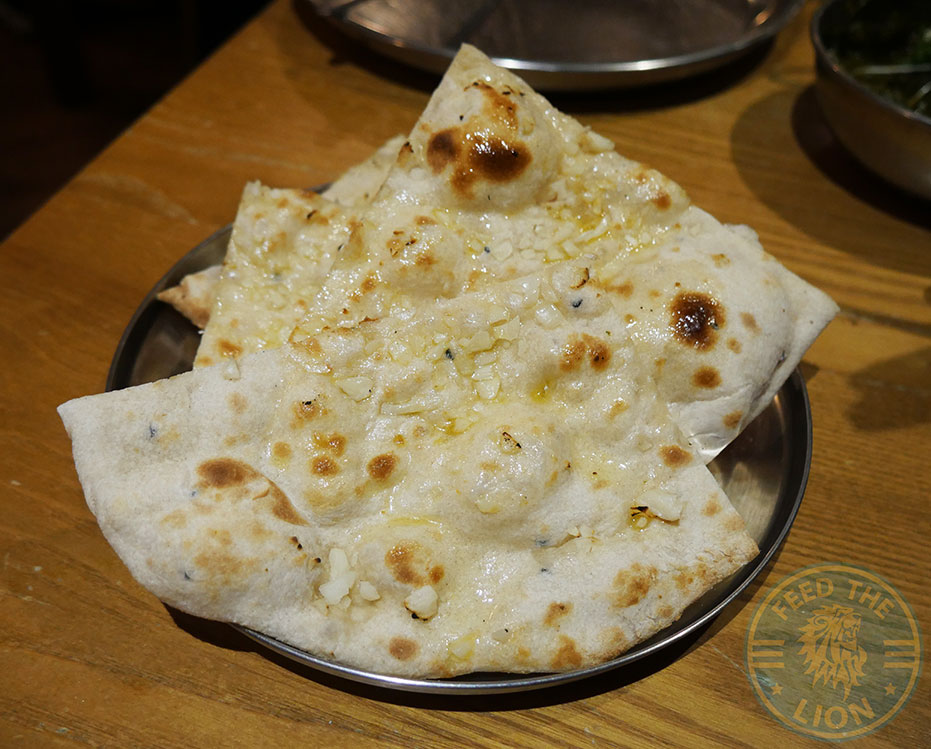 Garlic Naan Chapati Club Indian Halal restaurant Acton curry