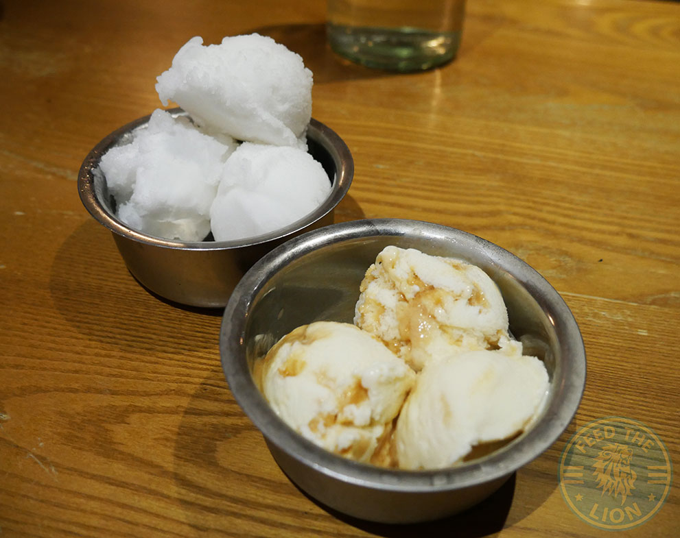 Sorbet ice cream gelato dessert Chapati Club Indian Halal restaurant Acton curry