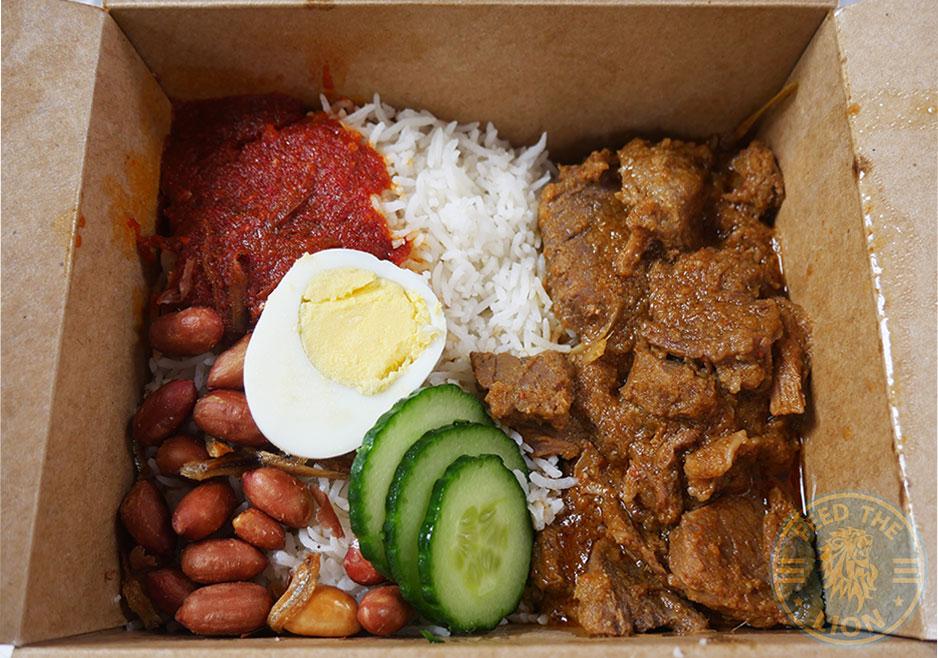 Dapur Halal Malaysian Holborn London Nasi Lemak Beef Rendang