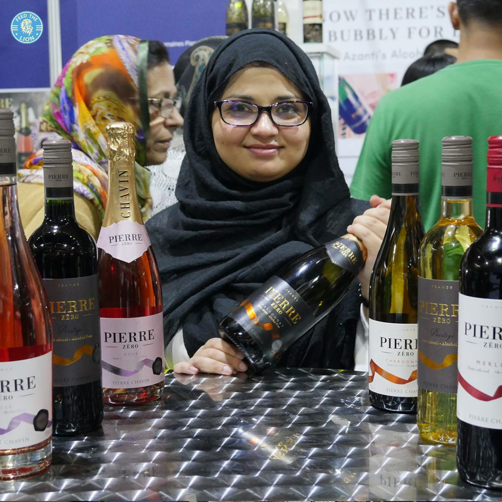 Non alcoholic wine Azanti London Halal Food Festival - Tobacco Dock 2018
