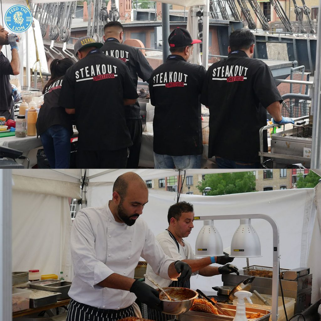 steak out Azanta Bespoke Henna London Halal Food Festival - Tobacco Dock 2018