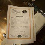 Mr White Chophouse certification Halal certificate HMC HFA