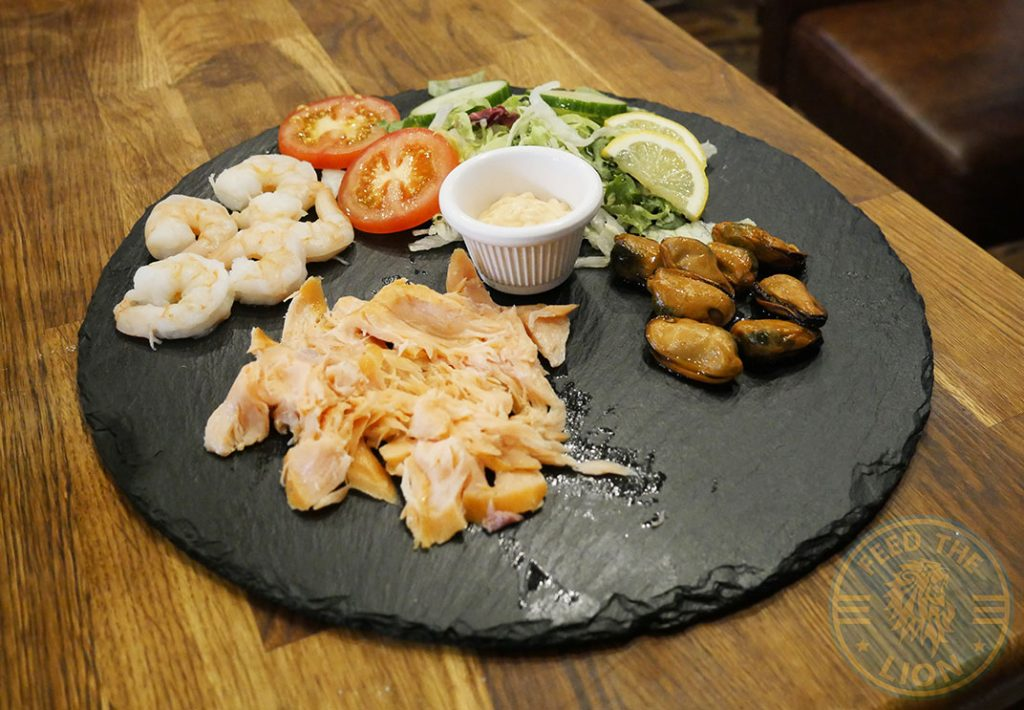 Salmon Fish Prawns Mussels Platter Rockit steakhouse Halal Steak Whitechapel