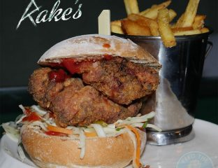 chicken burger Rake's Cafe Bar Liverpool St. London Halal