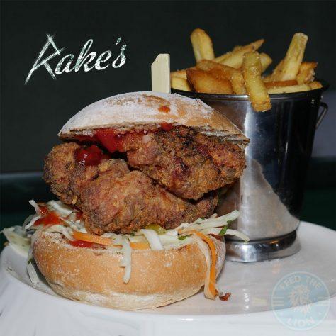chicken burger Rake's Cafe Bar Liverpool St. London Halal