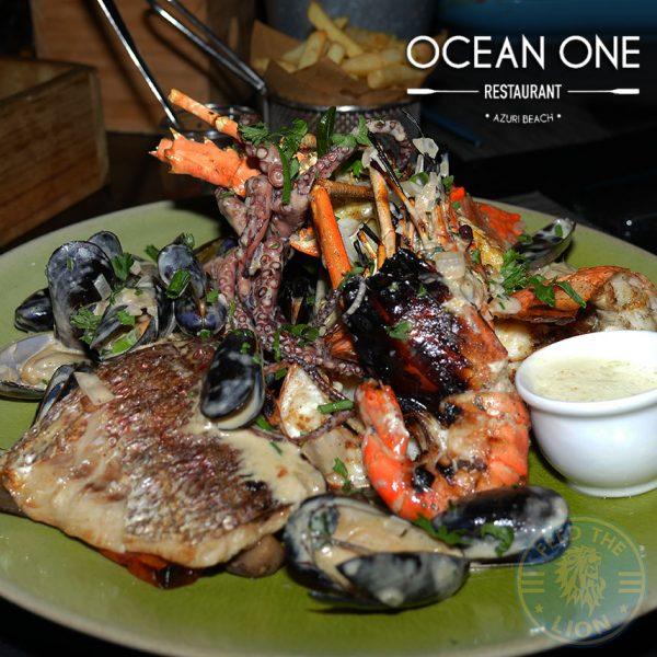 seafood Ocean One beach bar and restaurant Azuri village resort halal food Mauritius