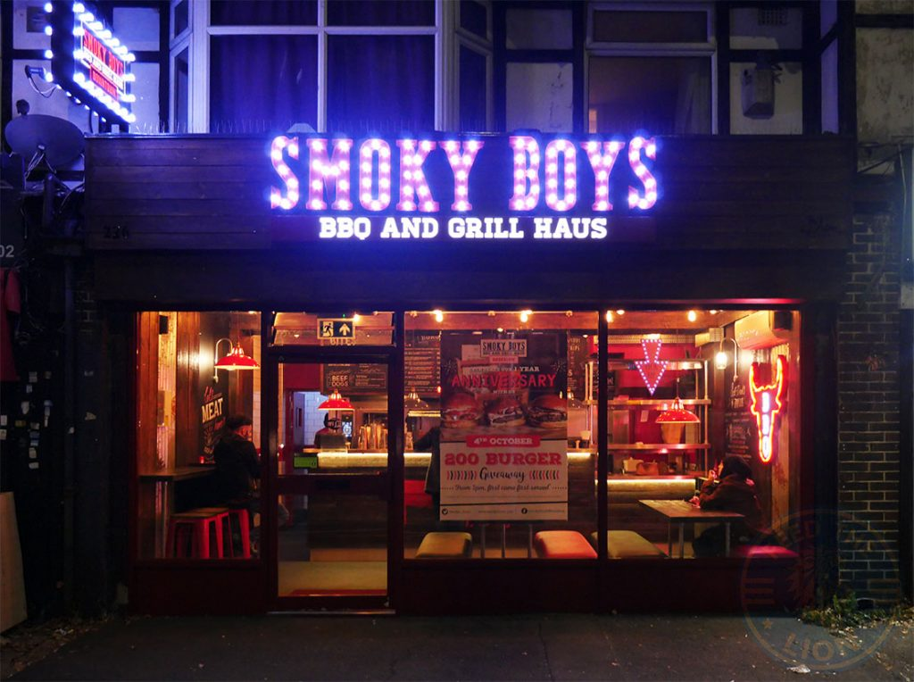 Smokey boys halal Burger BBQ grill Haus Hounslow restaurant London