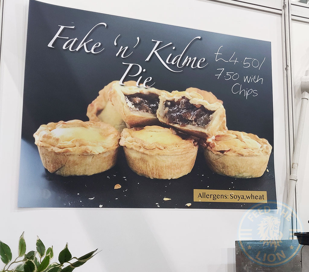 Fake n Kidney pie Vegan Vegfest London Olympia 2018 Food Festival vegetarian