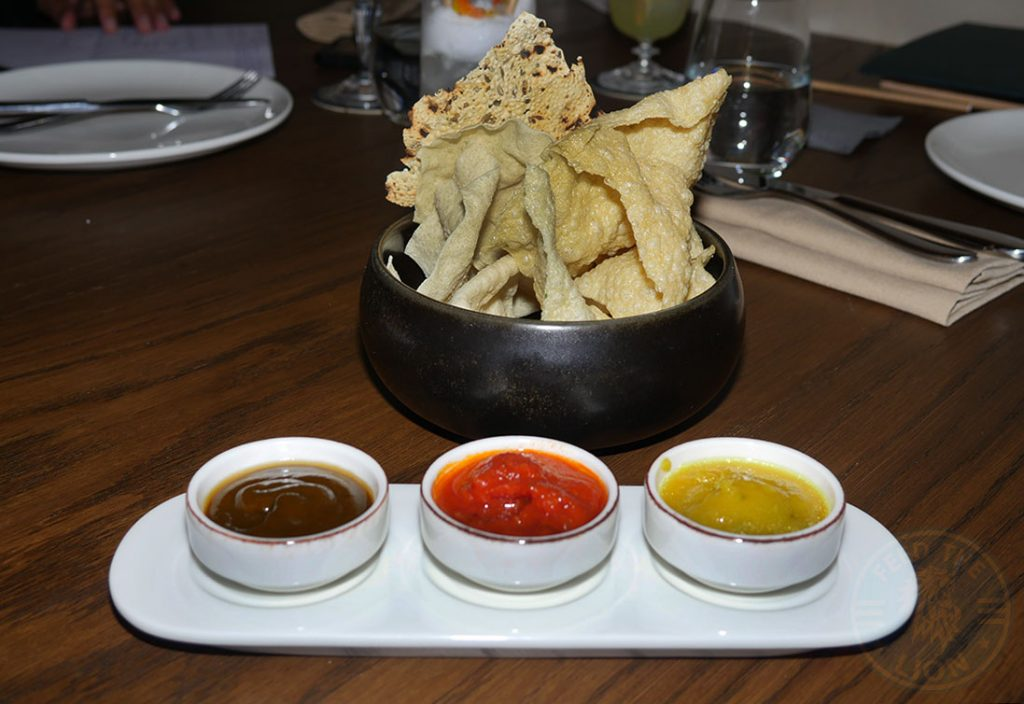 Kahani London Indian Restaurant Halal Curry chutneys