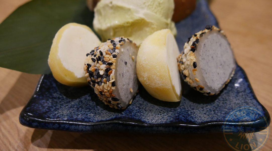 D4) Yuzu Mochi, D5) Sesame Mochi, £4.00 each