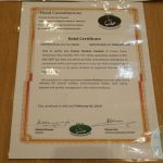 halal certificate Mitsuryu Japanese Halal restaurant China Town London
