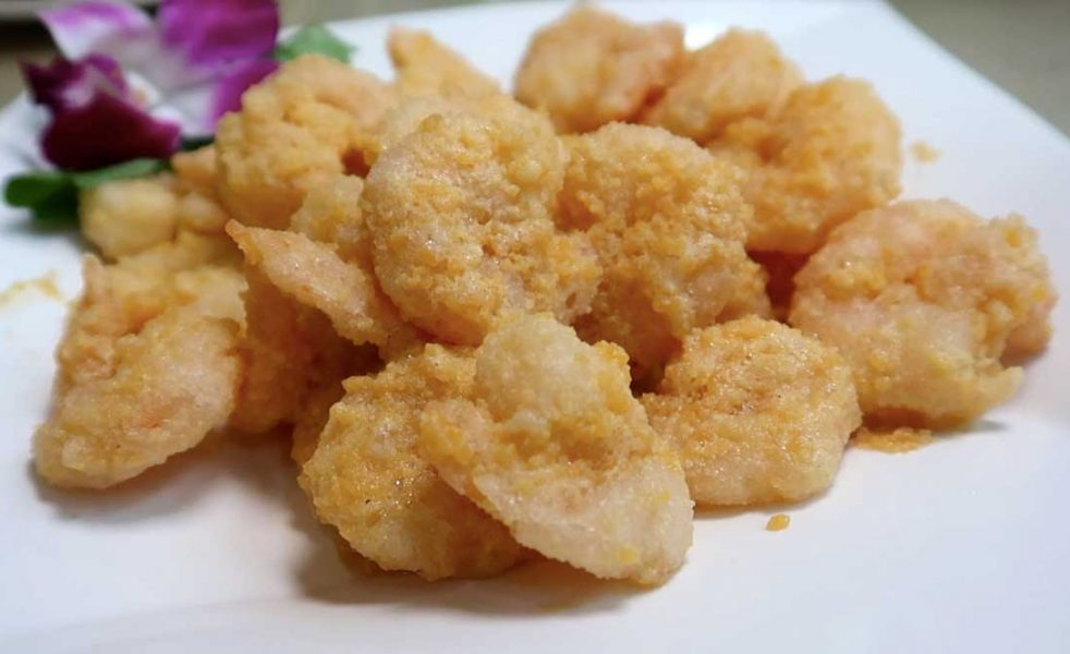 Salted egg yolk prawns for the adventurous at heart