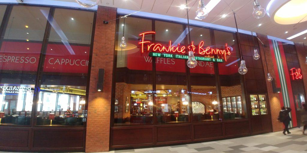 Frankie & Benny's Wembley 'London Designer Outlet' Halal Friendly Restaurants