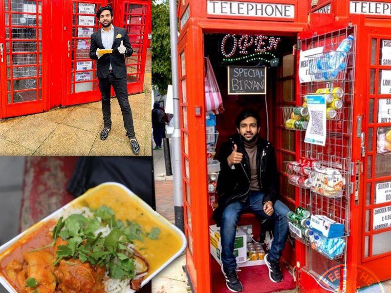 Food Booth Halal Curry Uxbridge London Phone Box Booth