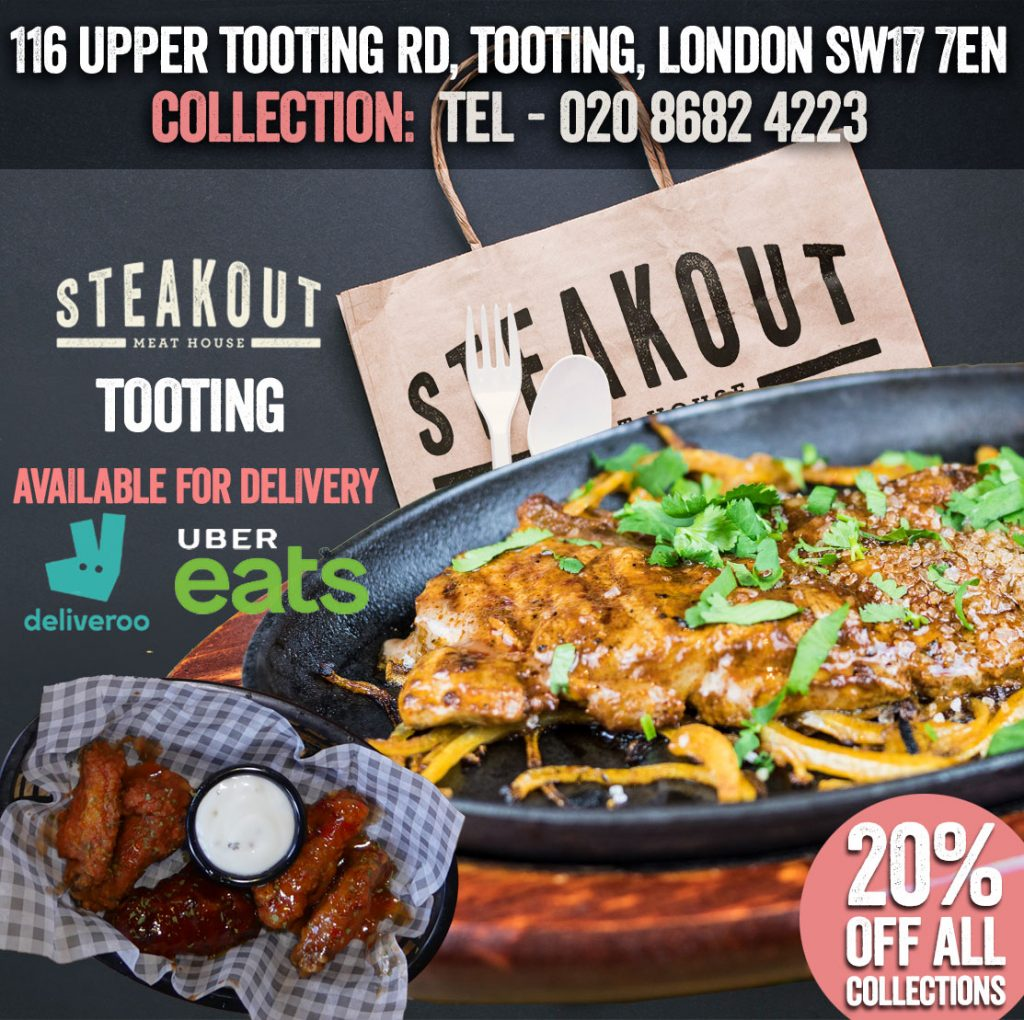 Steakout Tooting London Delivery Takeaway