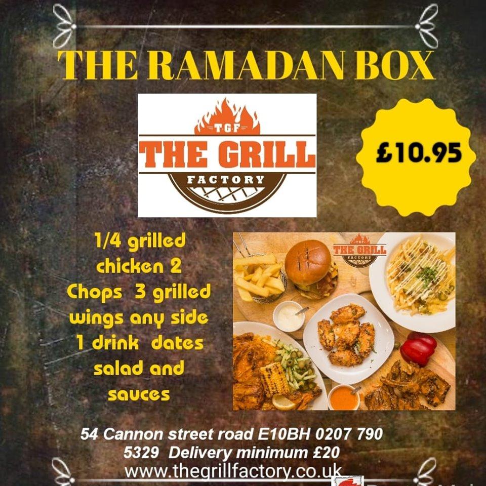 The Grill Factory Iftar Ramadan Halal Canon Street