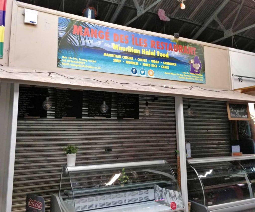 Mange Des Iles Restaurant Tooting Market