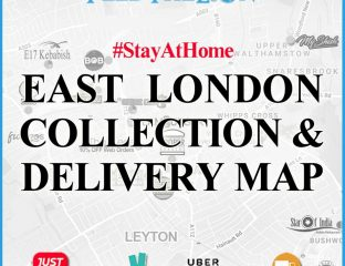 East London Collection & Delivery Map