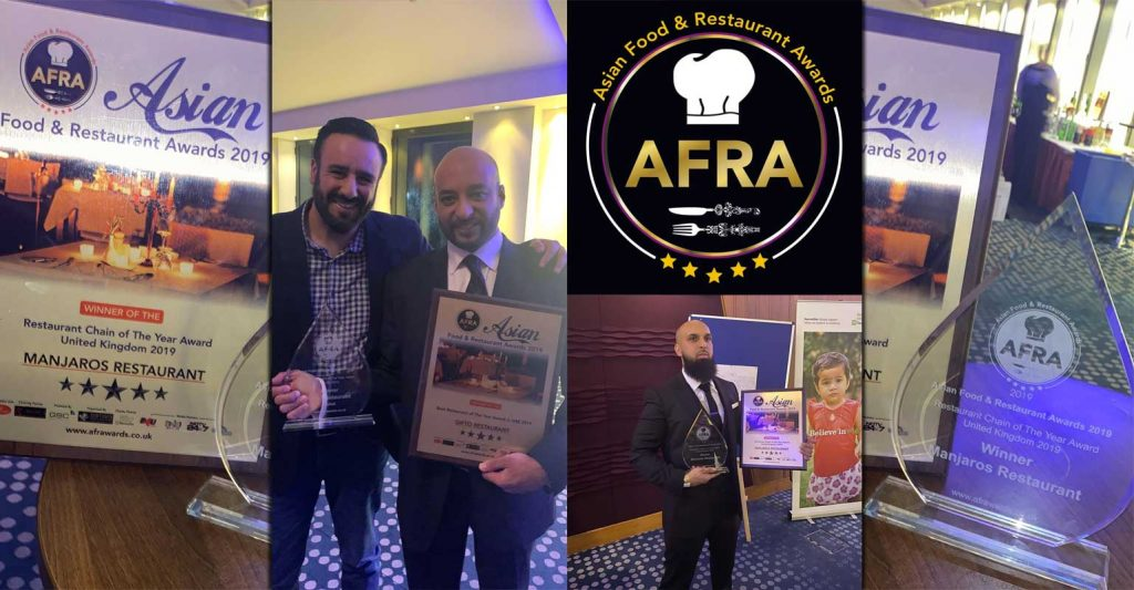 Asian Food and Restaurant Awards 2019 Afra