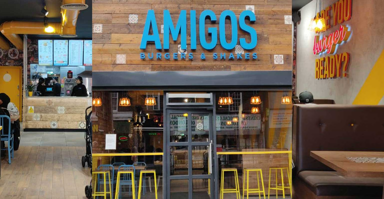 Amigos Burgers Amp Shakes Launches In Wembley Feed The Lion