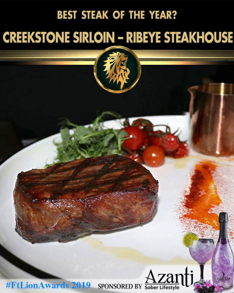 #FtLionAwards 2019 - Best Steak of the Year?-Creekstone-Sirloin-Ribeye-Steakhouse