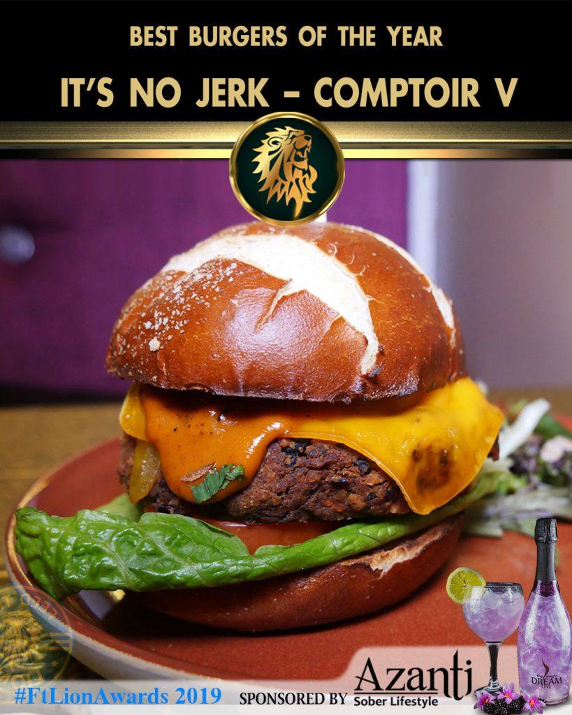 #FtLionAwards 2019 – Best Burger of the Year Its-No-Jerk-Comptoir-V
