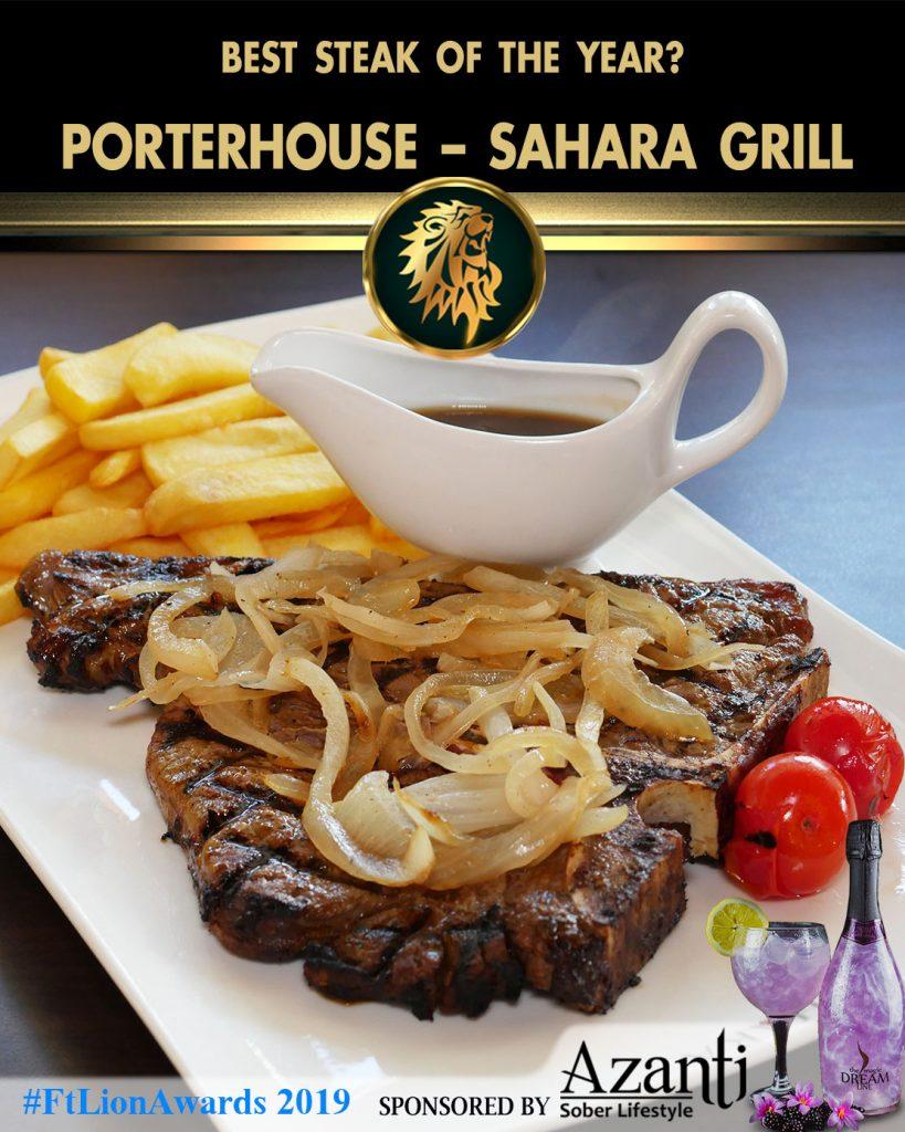 #FtLionAwards 2019 - Best Steak of the Year?-Porterhouse-Sahara-Grill