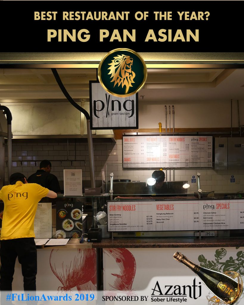 #FtLionAwards 2019 - Best Restaurant of the Year? ping pan asian