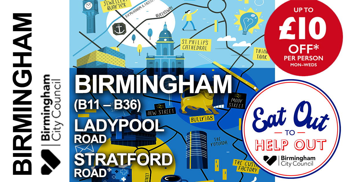 Eat Out To Help Out Birmingham B11 B36 Halal Restaurants Feed The Lion