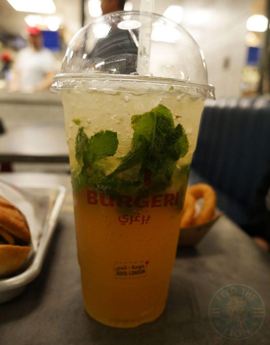 Burgeri Halal Soho London restaurant Virgin Mojito