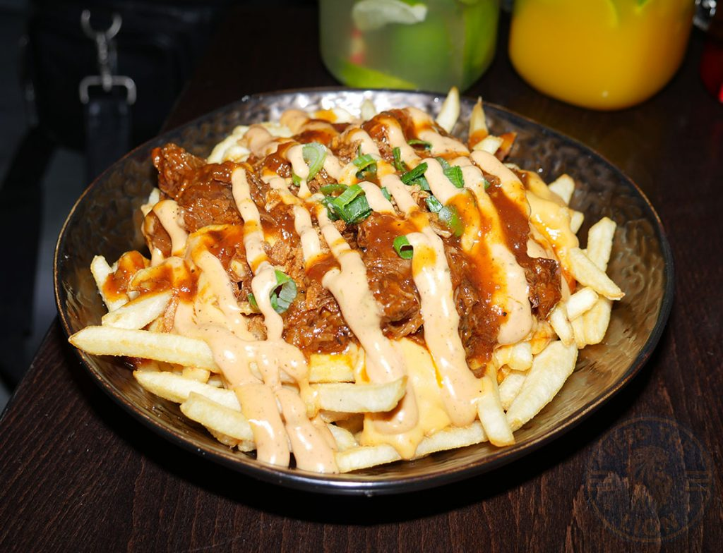 chips fries Feed your soul Boondocks Halal burger stax Old Street, London