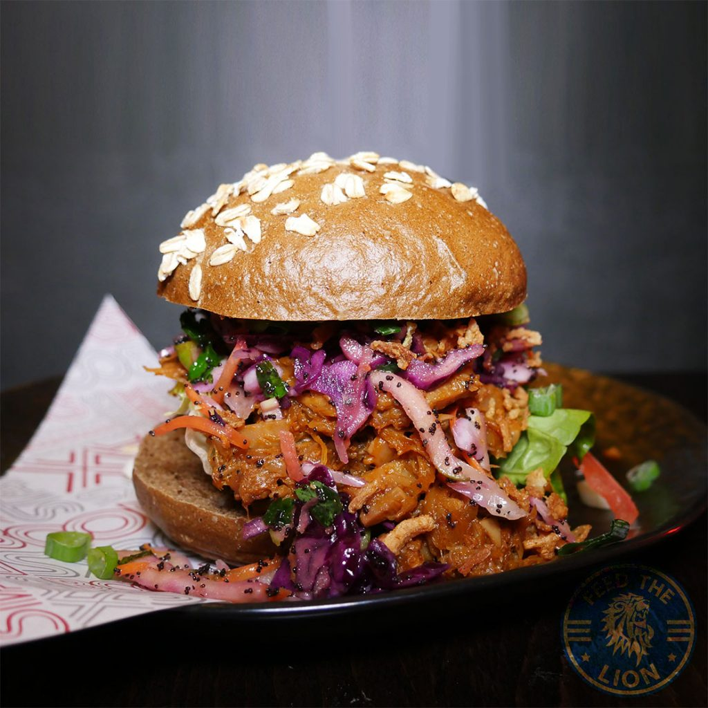 Feed your soul Boondocks Halal burger stax Old Street, London vegan CHIPOTLE BBQ JACKFRUIT BURGER