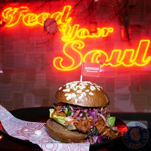 Feed your soul Boondocks Halal burger stax Old Street, London