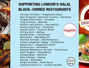 Black Lives Matter Hungry Sheikhs Support London Businesses