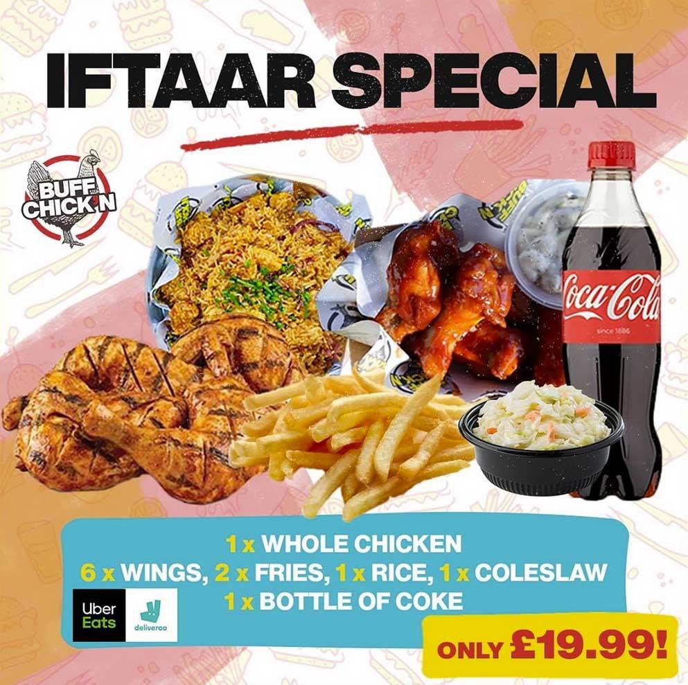 Buff Chick'n Dalston London Iftar Ramadan