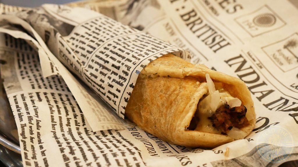 kebab roll Chaii Wala Indian Halal restaurant Coventry Road Birmingham Kebab Roll