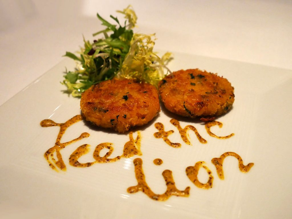 Crab Cakes Salad Quilon Restaurant Indian Fine Dining Michelin Star Curry Westminster London Buckingham Palace