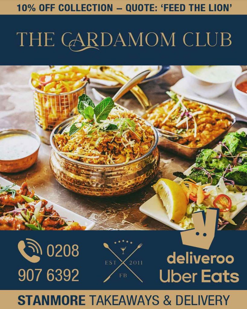 The Cardamom Club Stanmore delivery