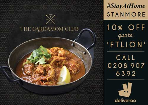 The Cardamom Club Stanmore London Delivery Takeaway