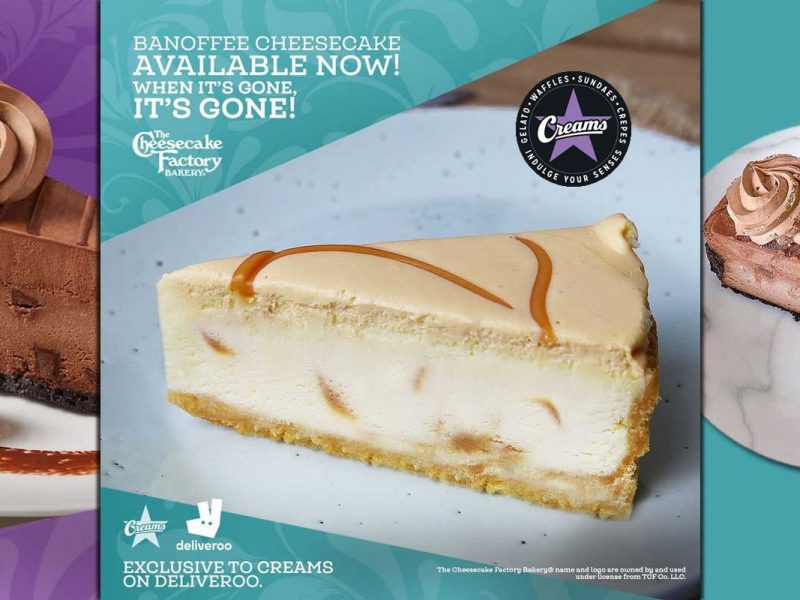 The Cheesecake Factory Creams Desserts