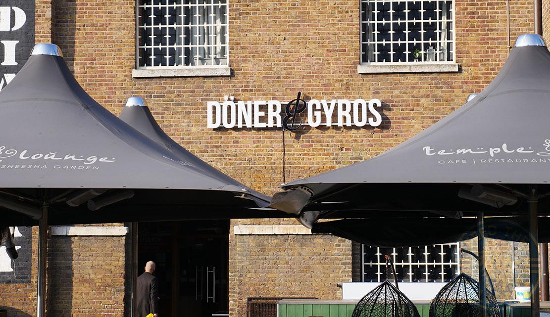 Doner Gyros Canary Wharf London Feed The Lion