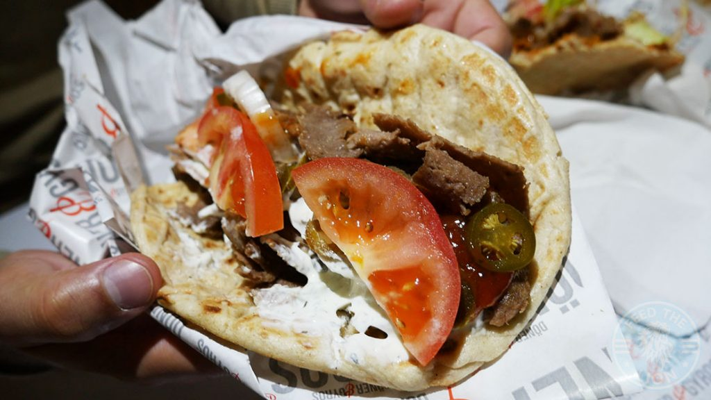 Doner and Gyros Halal fast food Canary Wharf, London