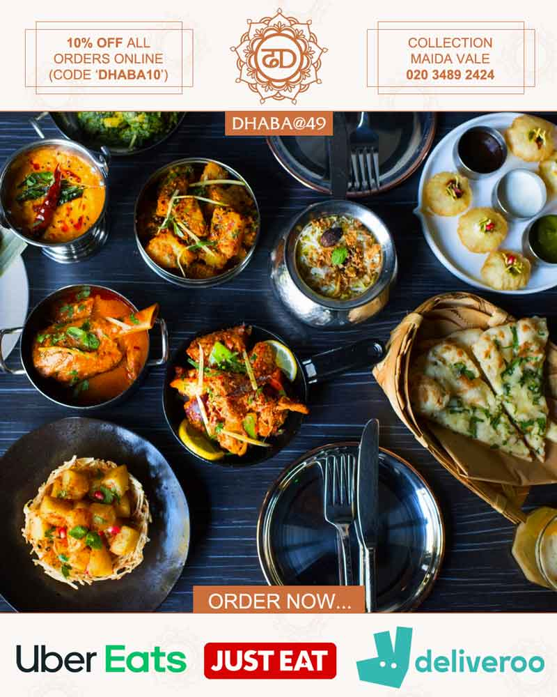 Dhaba@49 Delivery Takeaway Collection London Restaurants