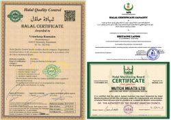 D U S K Halal certificates