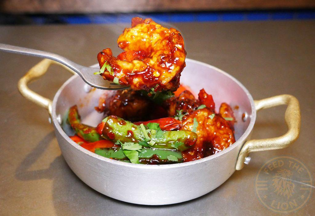 Prawns Seafood Fatt Pundit Indian Halal restaurant Soho London