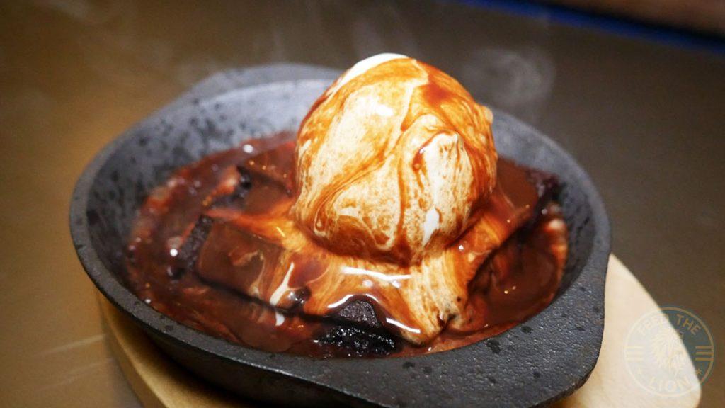Dessert Brownie Fatt Pundit Indian Halal restaurant Soho London
