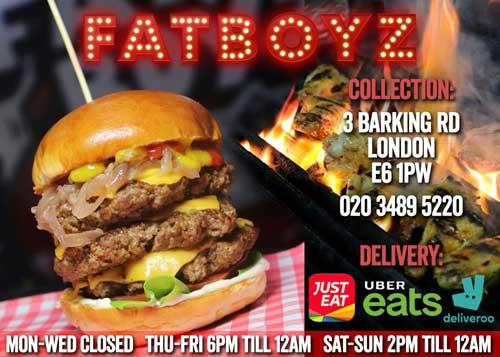 Fatboyz East Ham London Delivery Takeaway